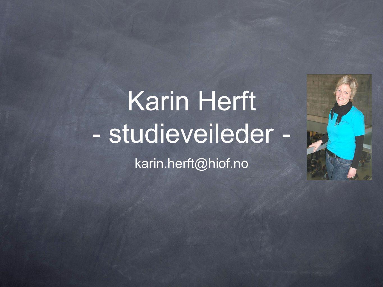 Karin Herft - studieveileder -