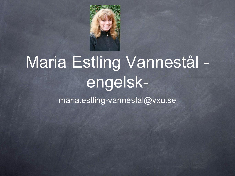 Maria Estling Vannestål - engelsk-