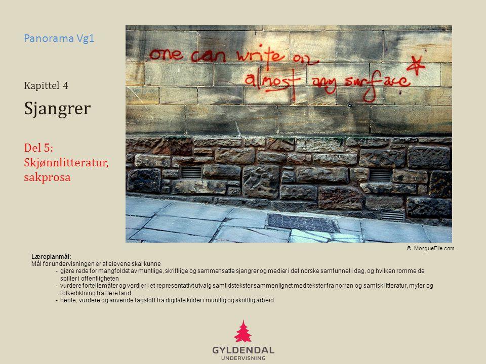 Sjangrer Panorama Vg1 Del 5: Skjønnlitteratur, sakprosa Kapittel 4