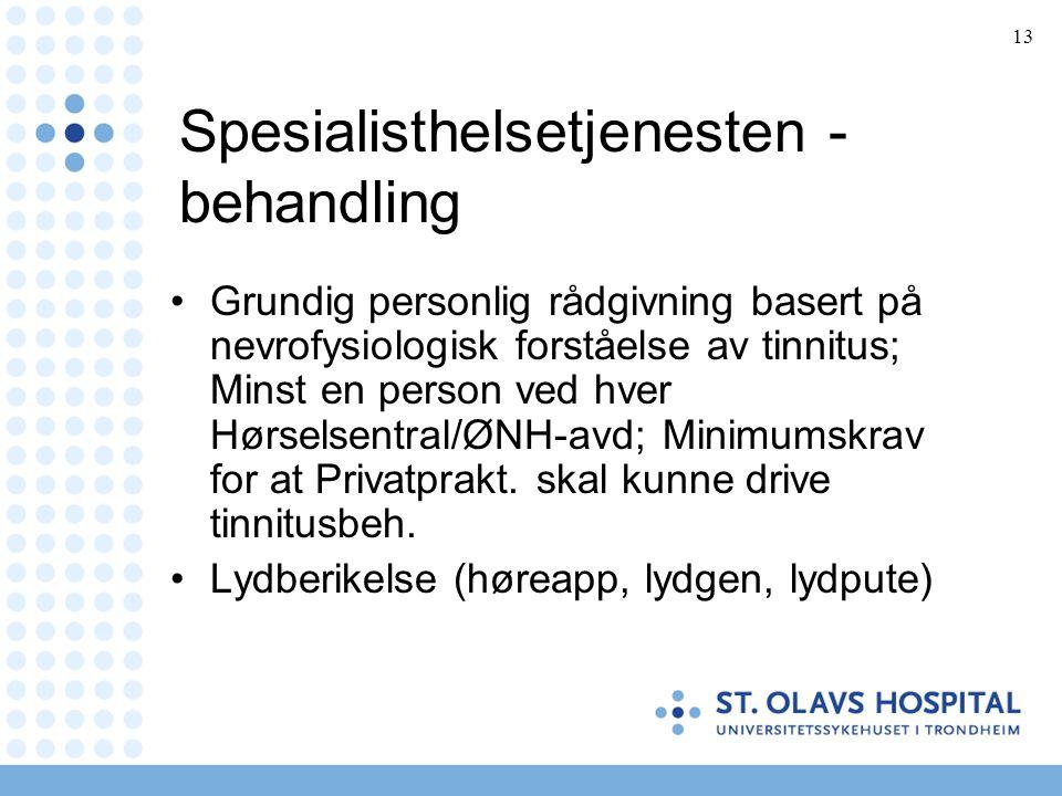 Spesialisthelsetjenesten - behandling