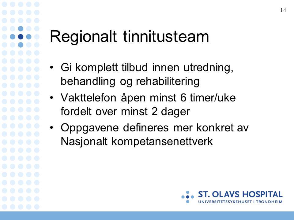 Regionalt tinnitusteam