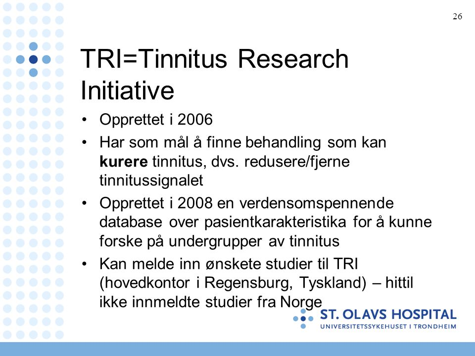 TRI=Tinnitus Research Initiative