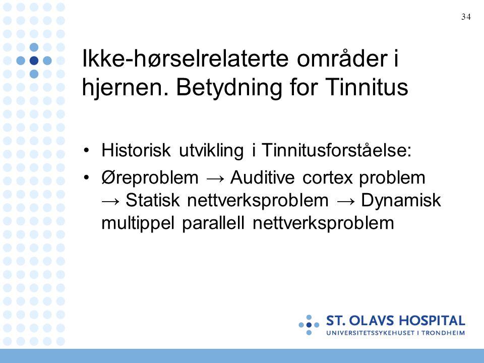 Ikke-hørselrelaterte områder i hjernen. Betydning for Tinnitus
