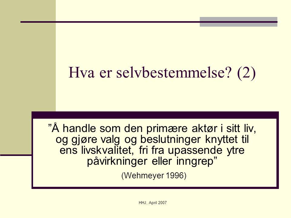 Hva er selvbestemmelse (2)