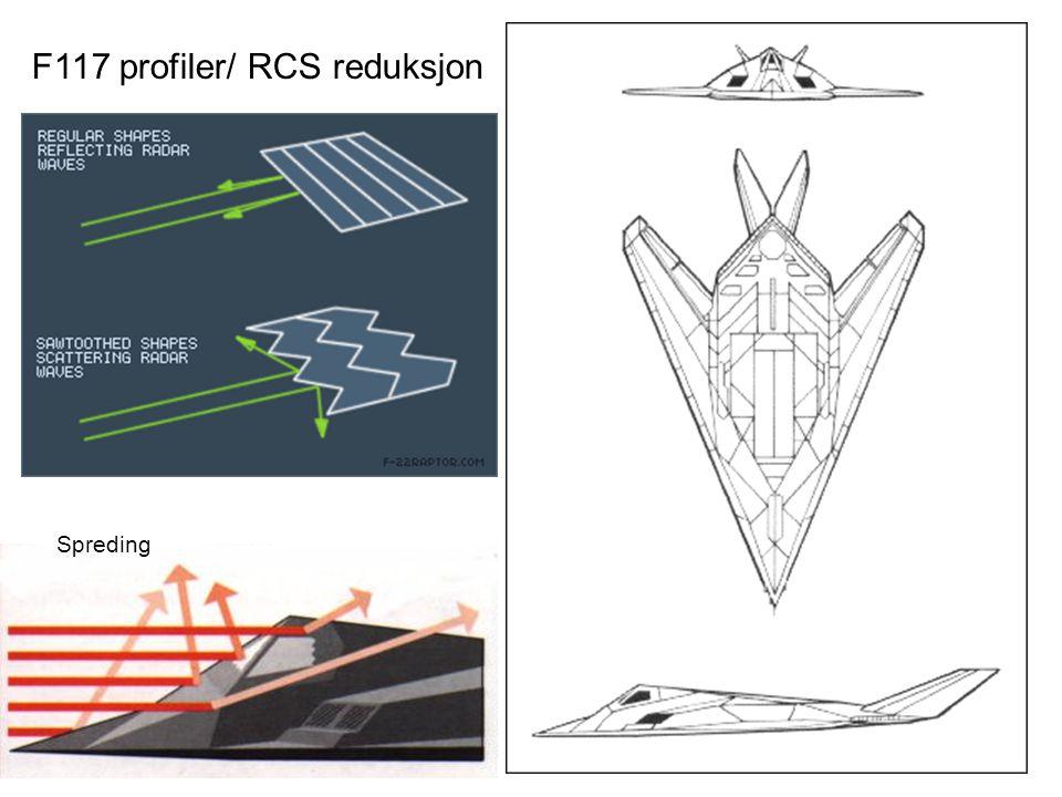 F117 profiler/ RCS reduksjon