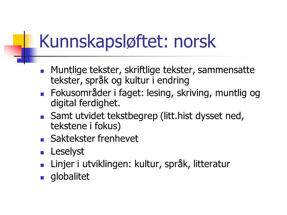 Kunnskapsløftet: norsk