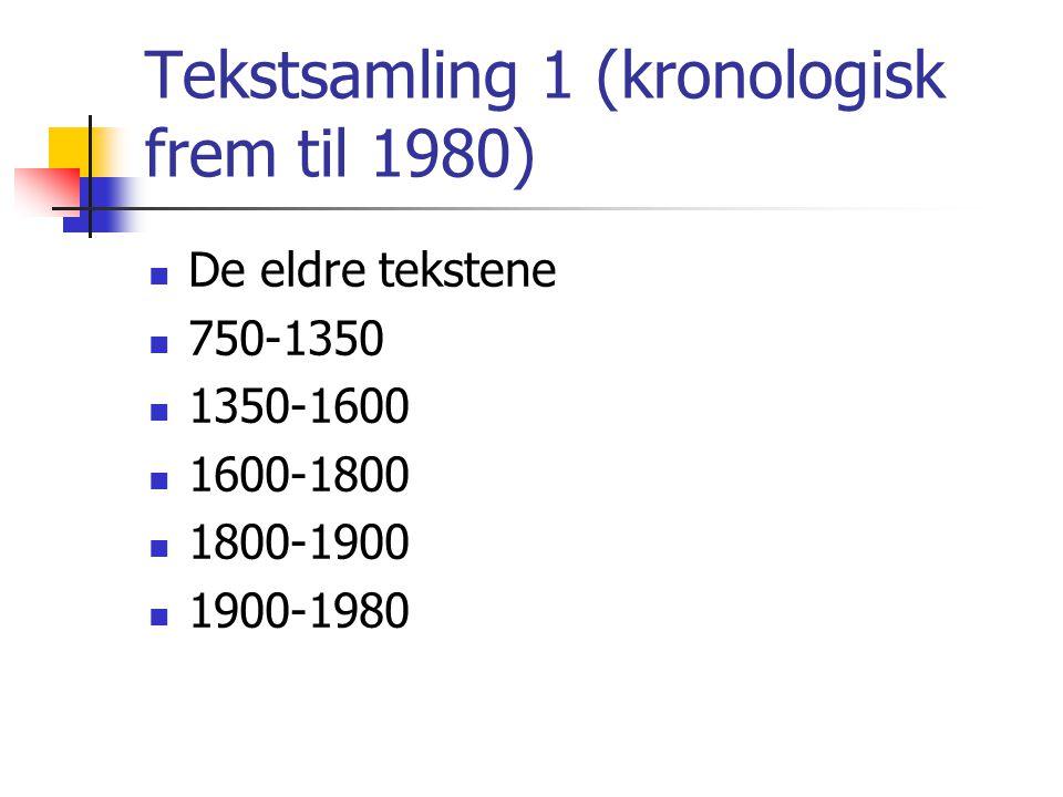 Tekstsamling 1 (kronologisk frem til 1980)