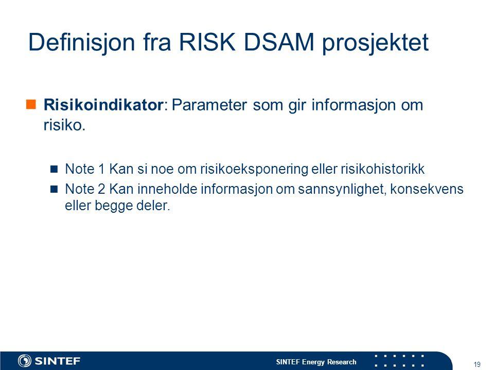 Definisjon fra RISK DSAM prosjektet