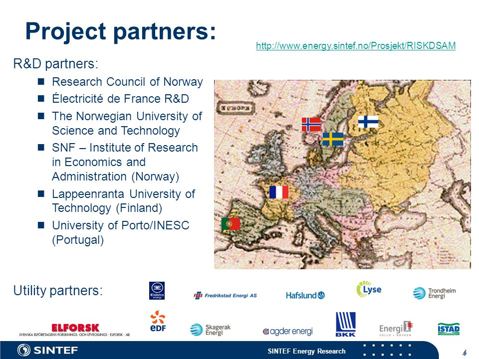 Project partners: R&D partners: Utility partners:
