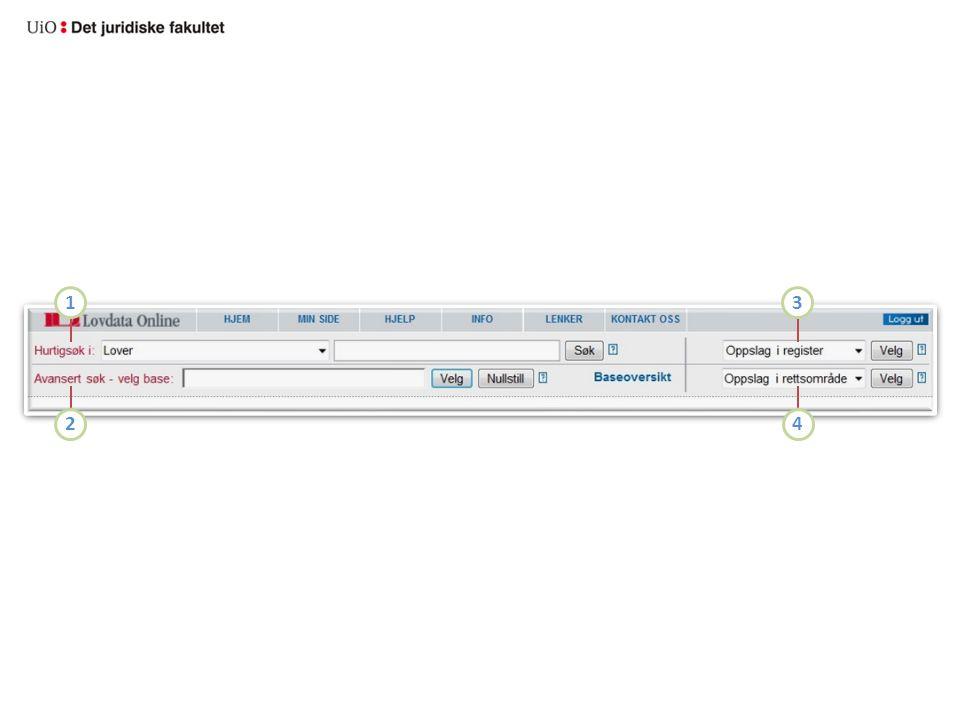 1 3 2 4 De fire inngangsportene til systemets dokumenter er: Hurtigsøk