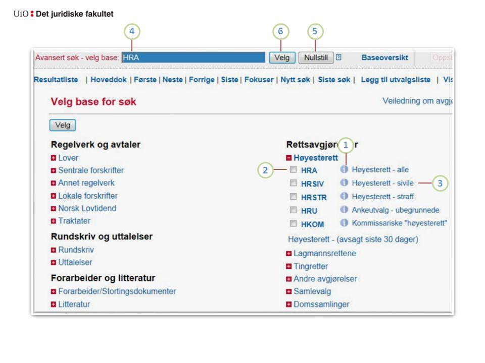 4 6. 5. 1. 2. 3. Klikk på infoknappene (1) for å få informasjon om innholdet i basene.