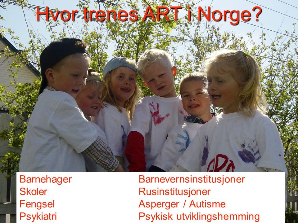 Hvor trenes ART i Norge