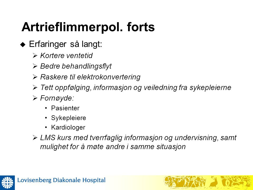 Artrieflimmerpol. forts