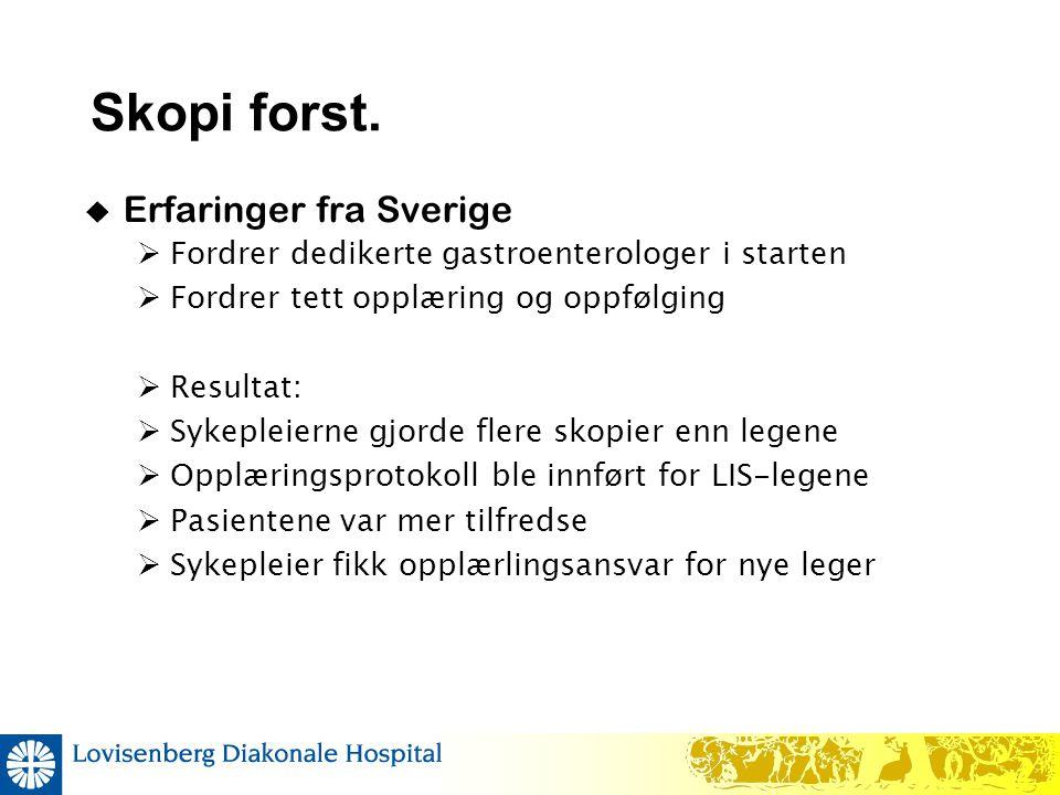 Skopi forst. Erfaringer fra Sverige