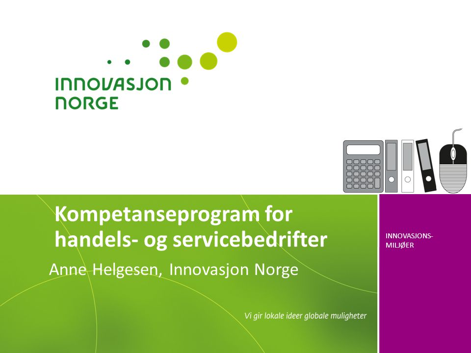 Kompetanseprogram for handels- og servicebedrifter