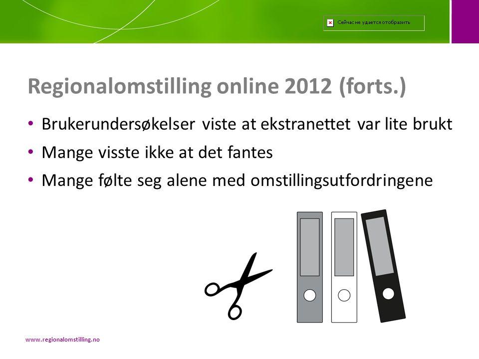 Regionalomstilling online 2012 (forts.)