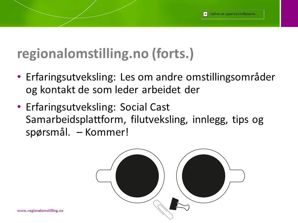 regionalomstilling.no (forts.)