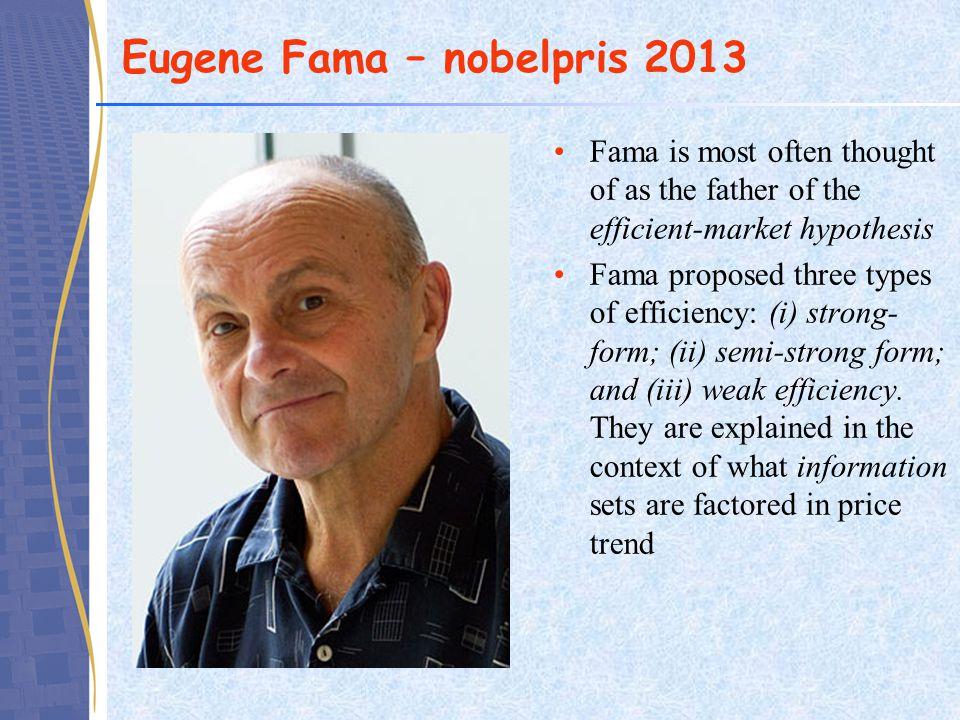 Eugene Fama – nobelpris 2013