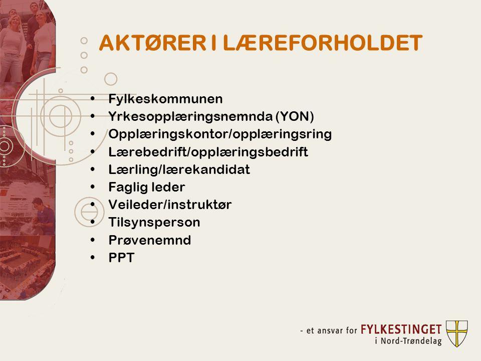 AKTØRER I LÆREFORHOLDET