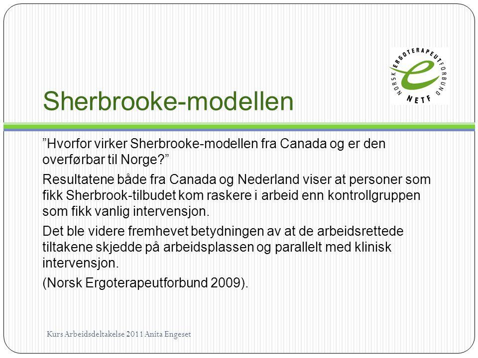 Sherbrooke-modellen Hvorfor virker Sherbrooke-modellen fra Canada og er den overførbar til Norge
