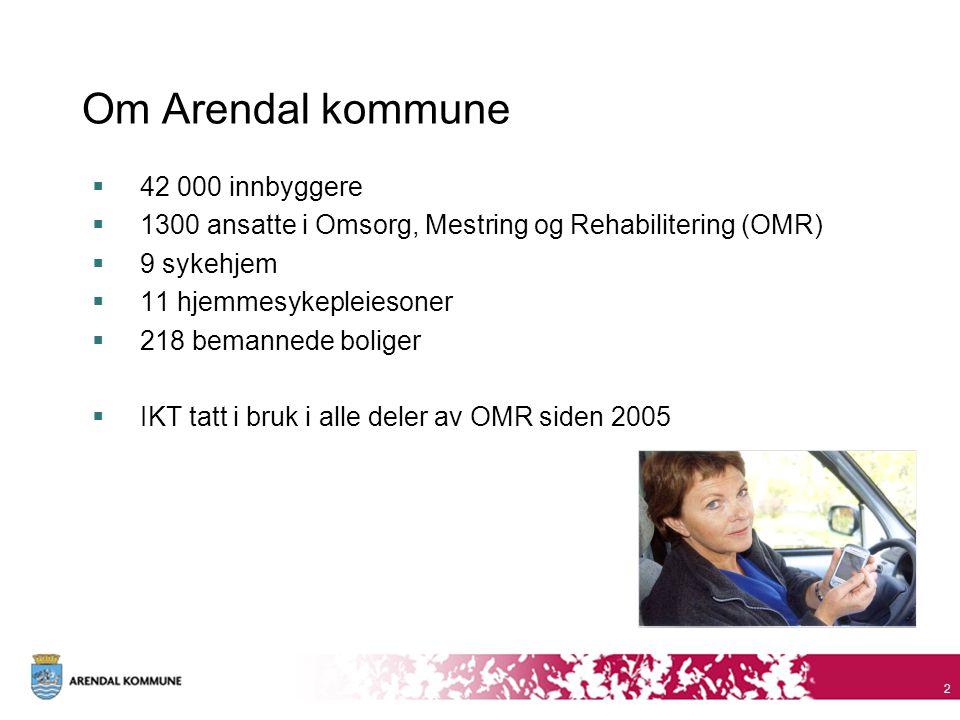 Om Arendal kommune 42 000 innbyggere
