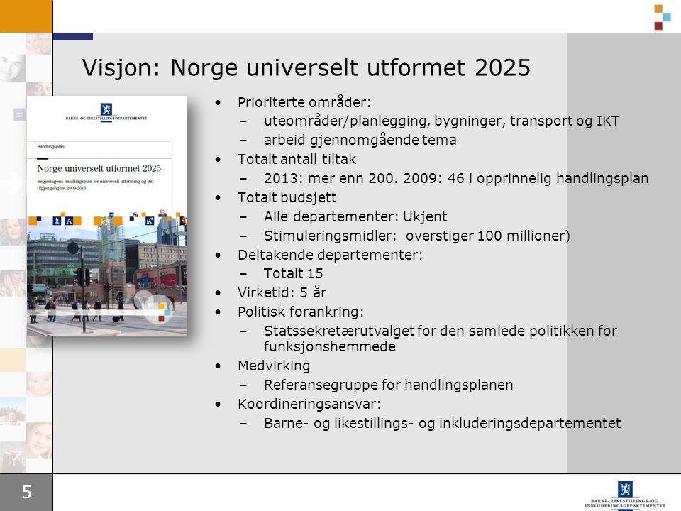 Visjon: Norge universelt utformet 2025