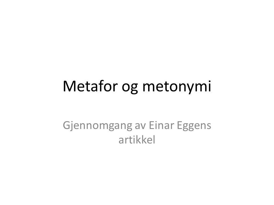 Gjennomgang av Einar Eggens artikkel