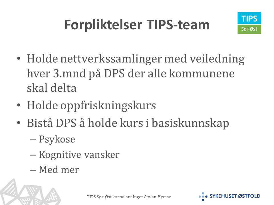 Forpliktelser TIPS-team