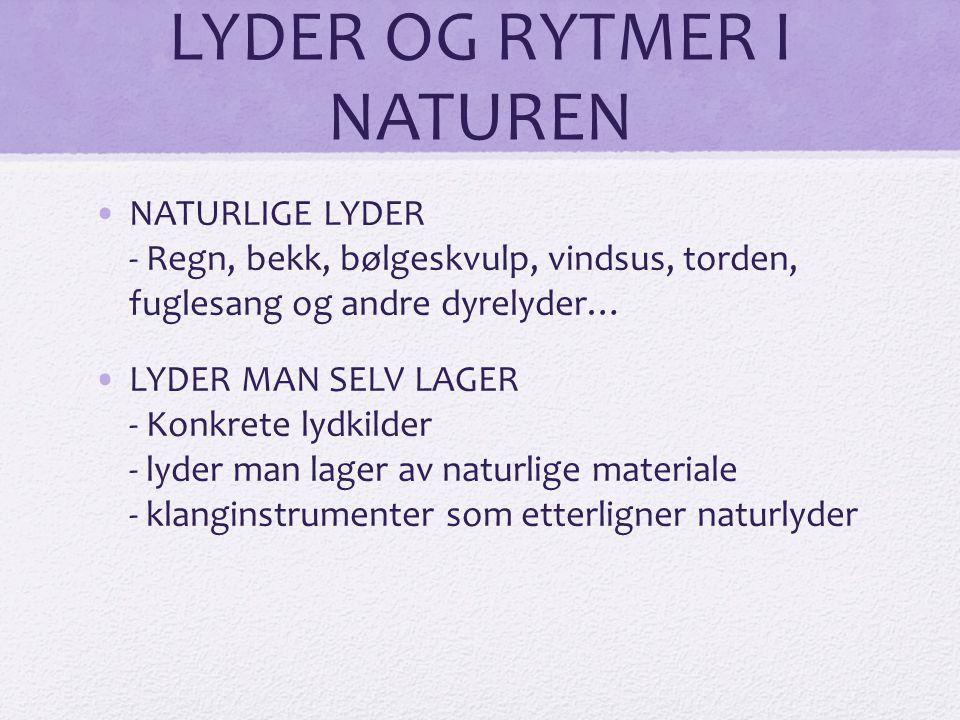 LYDER OG RYTMER I NATUREN