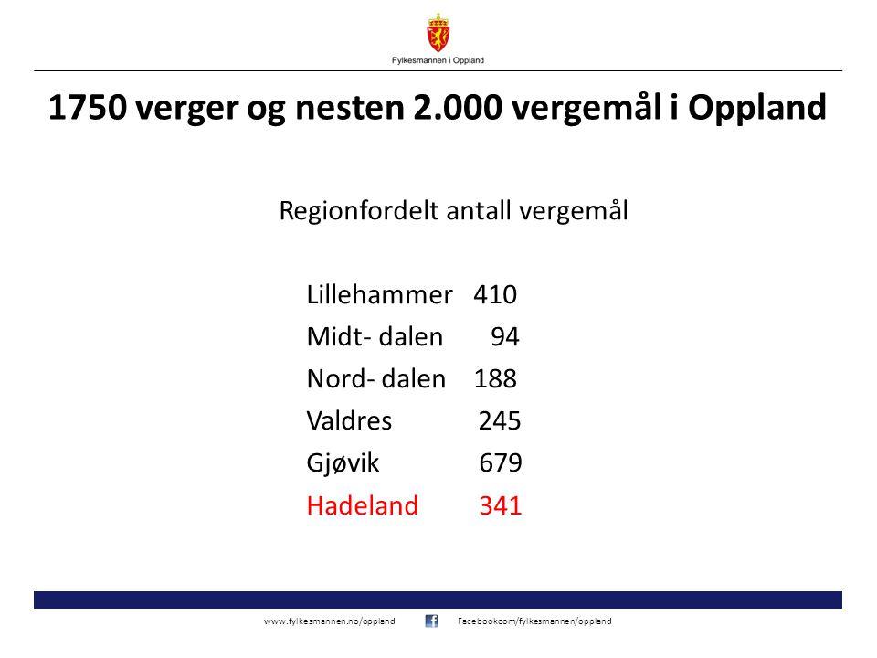1750 verger og nesten 2.000 vergemål i Oppland