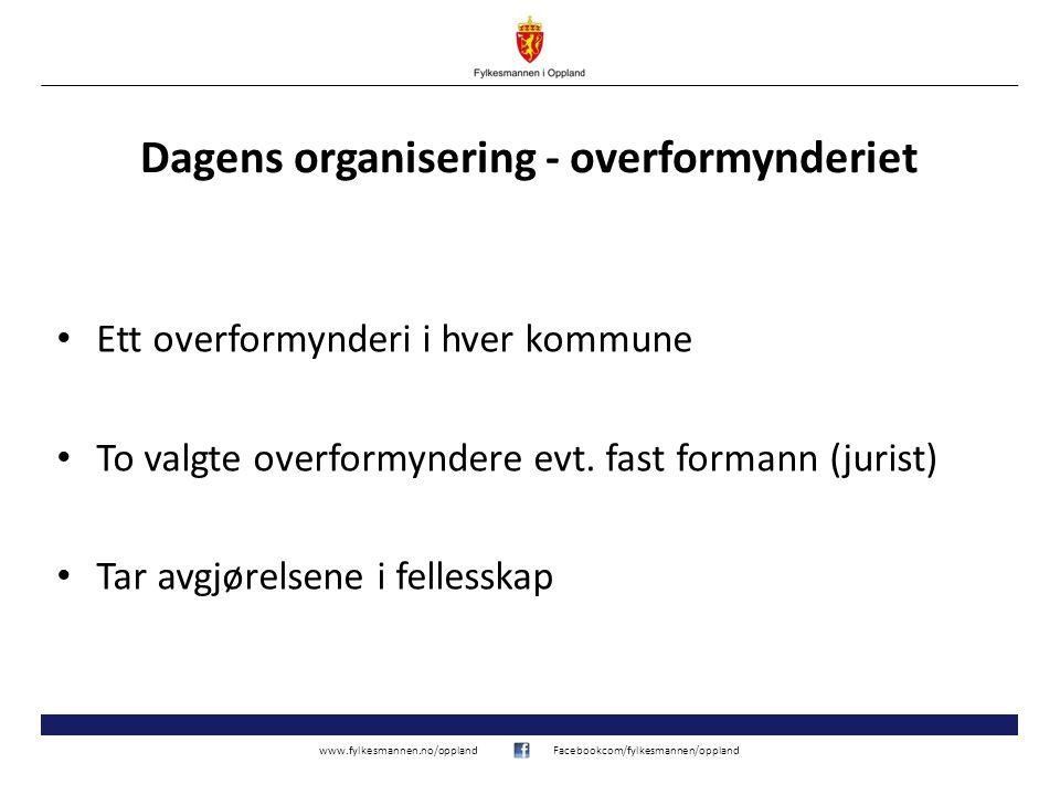 Dagens organisering - overformynderiet