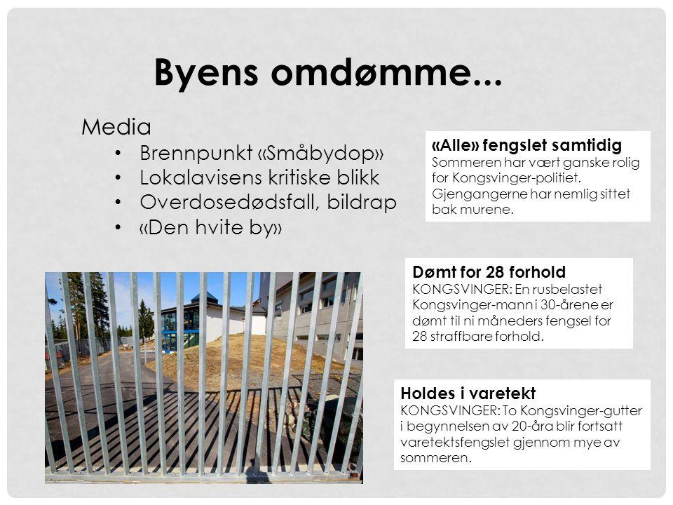 Byens omdømme... Media Brennpunkt «Småbydop»