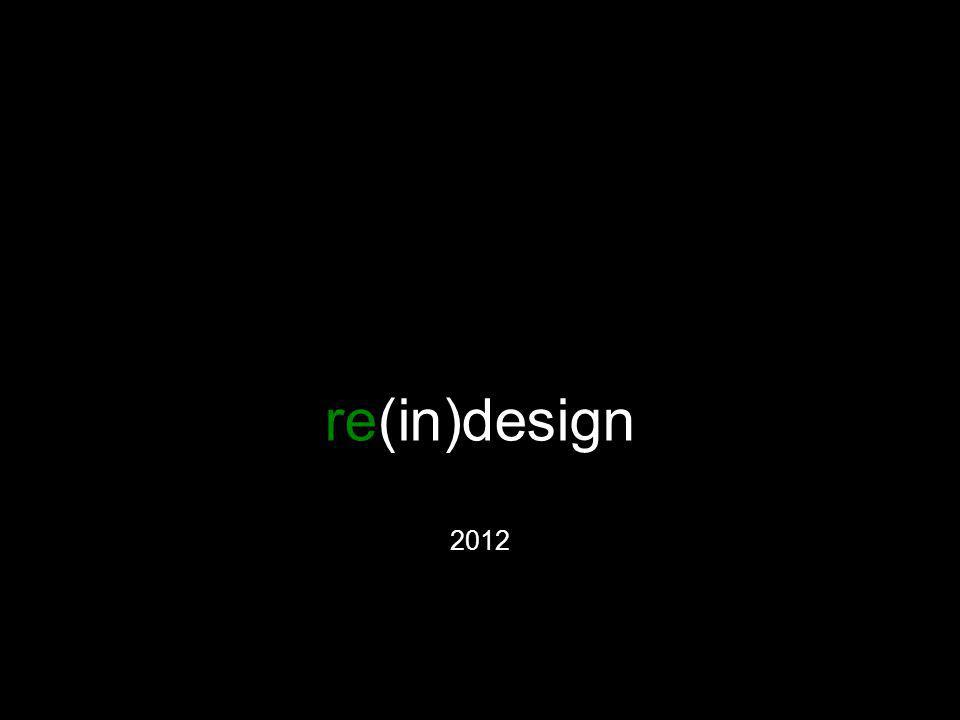 re(in)design 2012