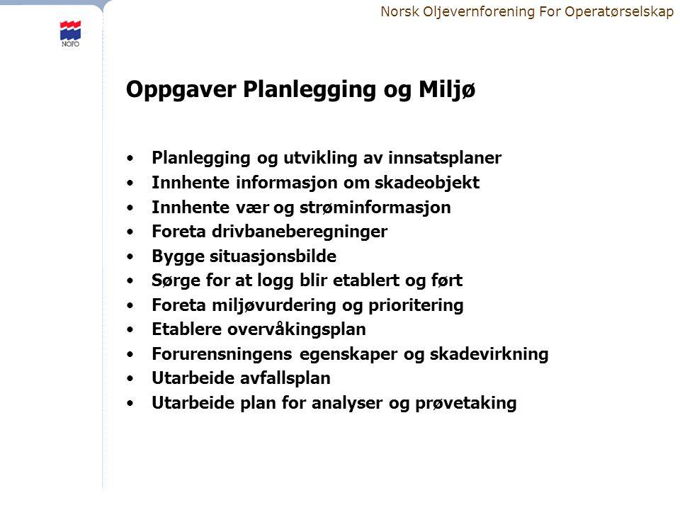 Oppgaver Planlegging og Miljø