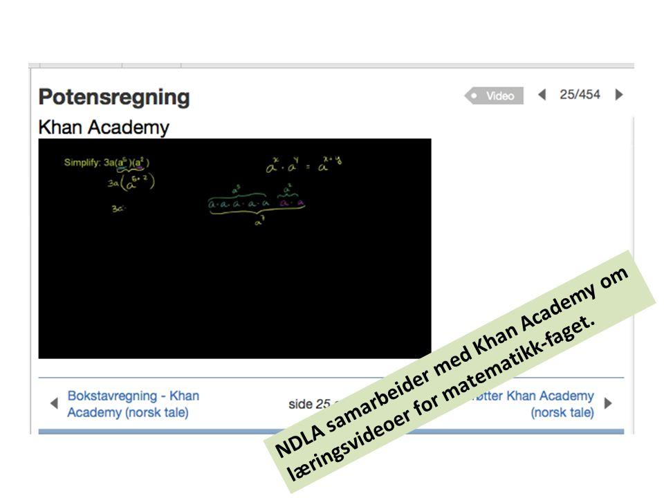 NDLA samarbeider med Khan Academy om læringsvideoer for matematikk-faget.