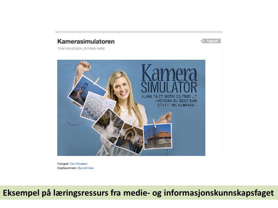 Eksempel på læringsressurs fra medie- og informasjonskunnskapsfaget