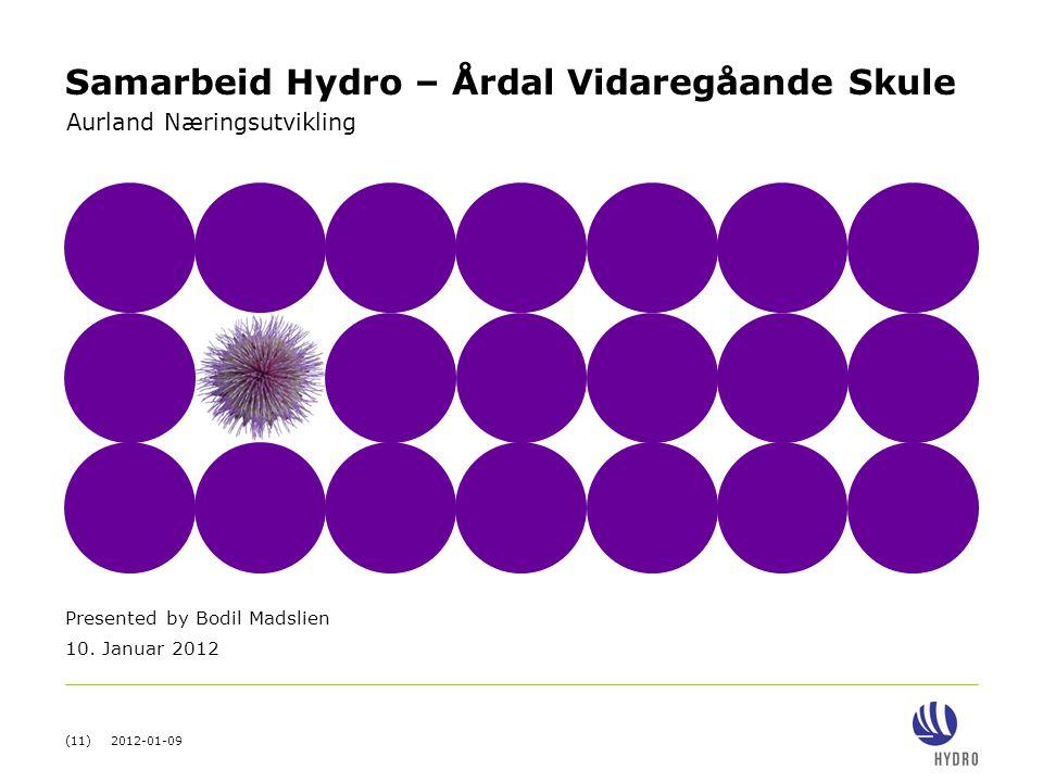 Samarbeid Hydro – Årdal Vidaregåande Skule