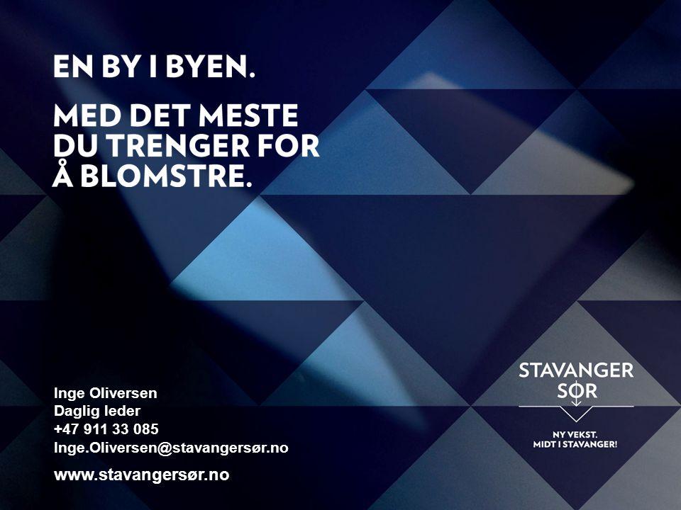 Inge Oliversen Daglig leder +47 911 33 085 Inge.Oliversen@stavangersør.no