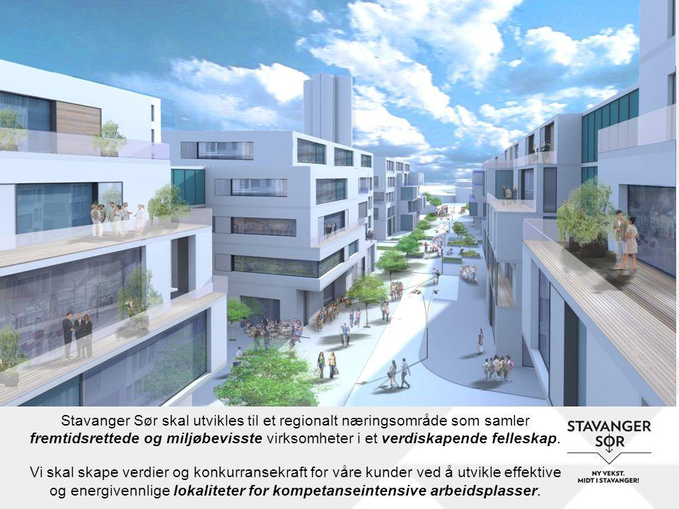 Stavanger Sør skal utvikles til et regionalt næringsområde som samler