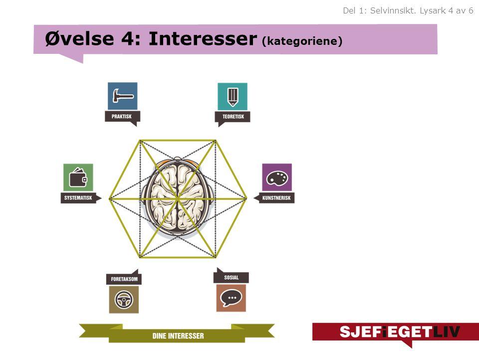 Øvelse 4: Interesser (kategoriene)