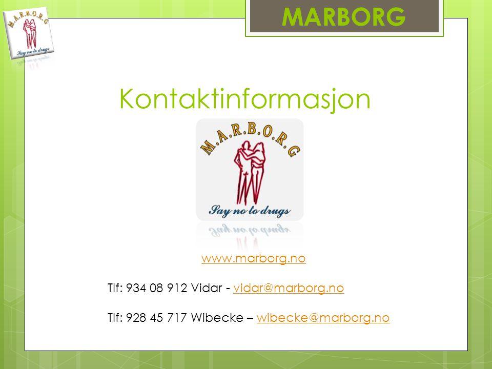 Kontaktinformasjon MARBORG www.marborg.no