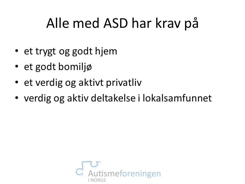 Alle med ASD har krav på et trygt og godt hjem et godt bomiljø