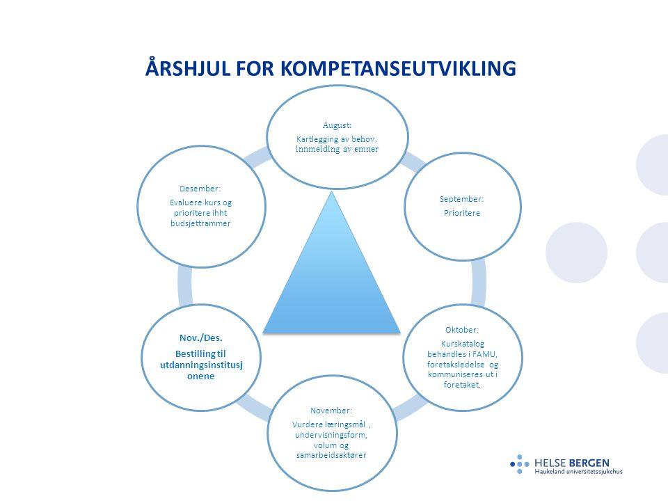 Årshjul for kompetanseutvikling