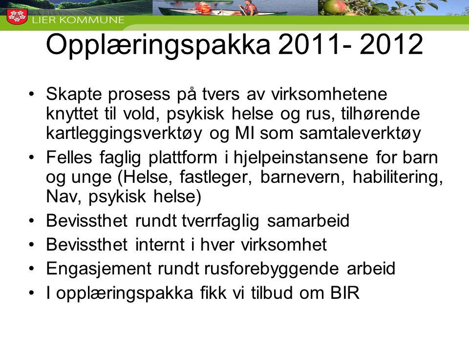 Opplæringspakka 2011- 2012