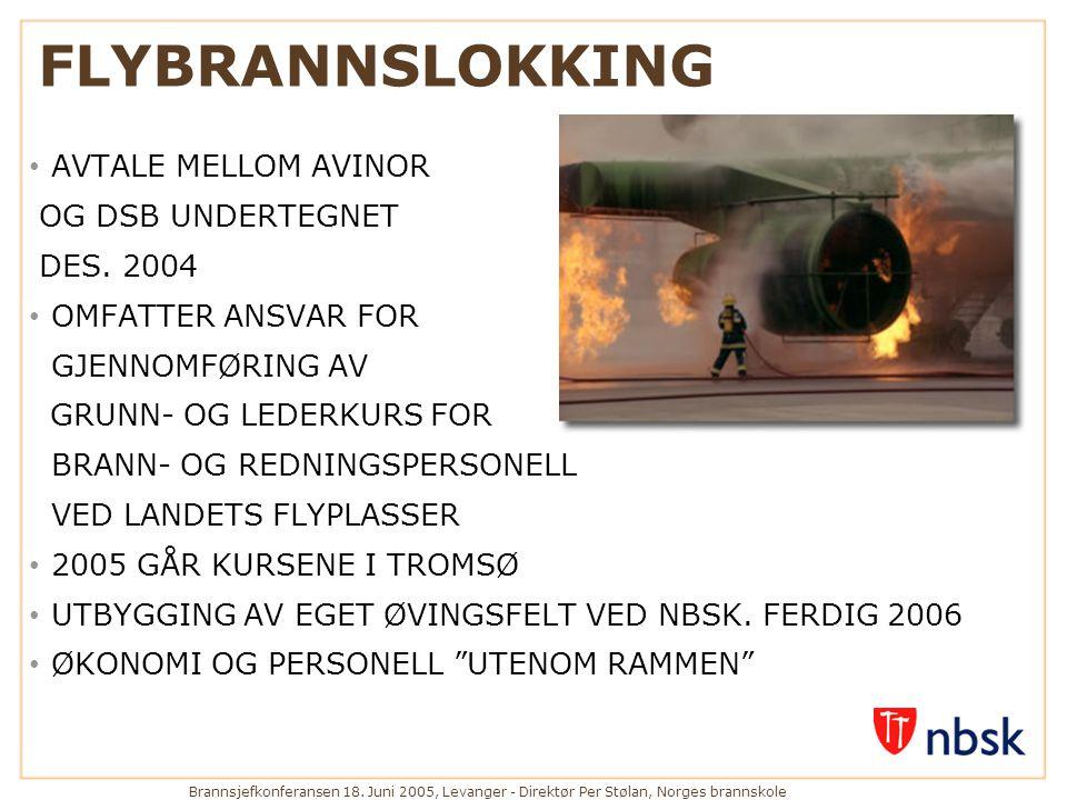 FLYBRANNSLOKKING AVTALE MELLOM AVINOR OG DSB UNDERTEGNET DES. 2004