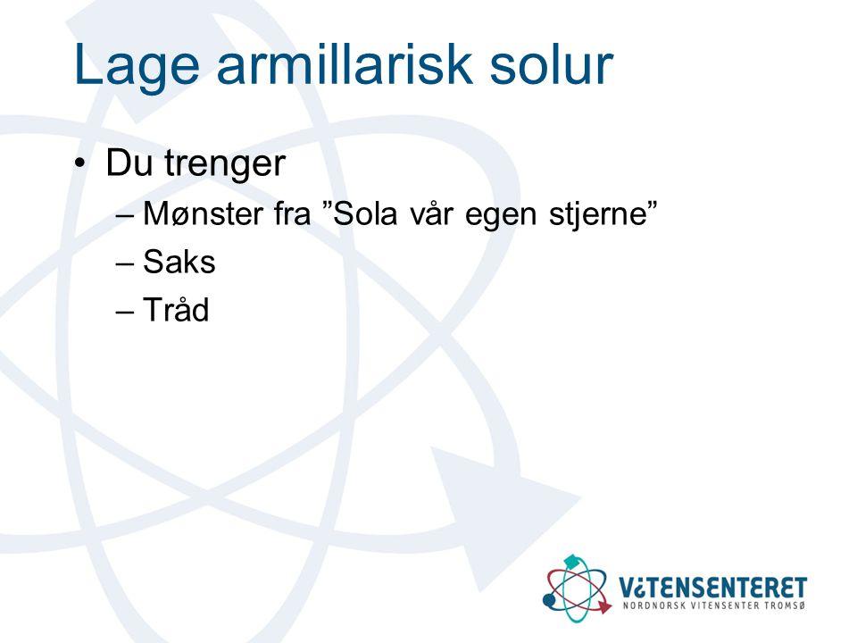 Lage armillarisk solur