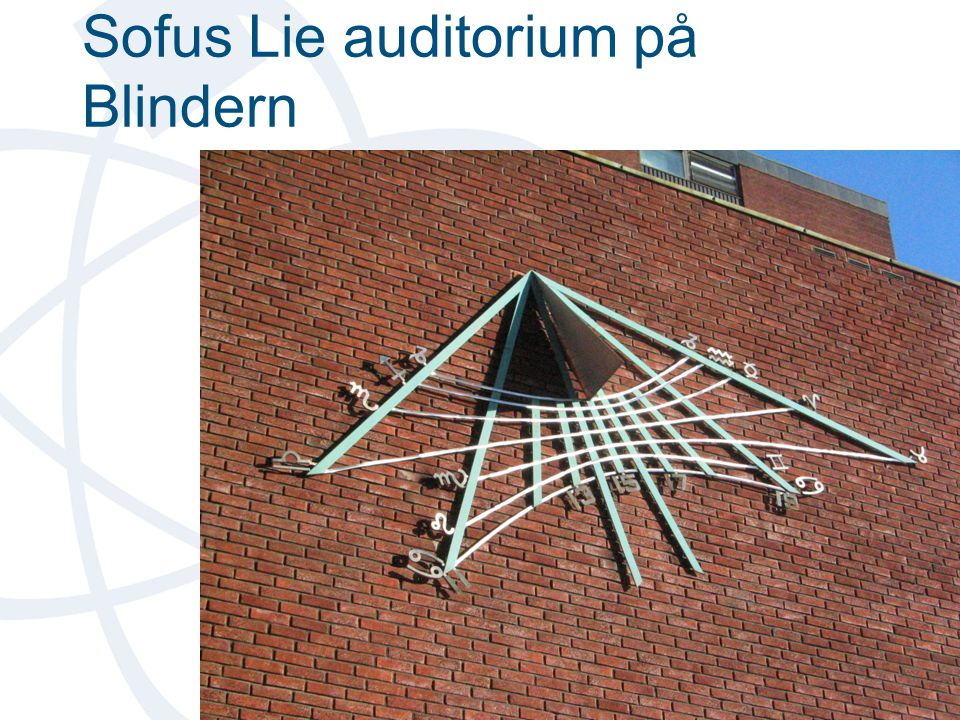 Sofus Lie auditorium på Blindern