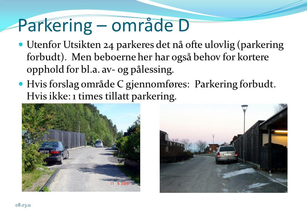 03.04.2017 Parkering – område D.