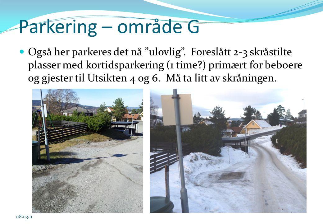 03.04.2017 Parkering – område G.