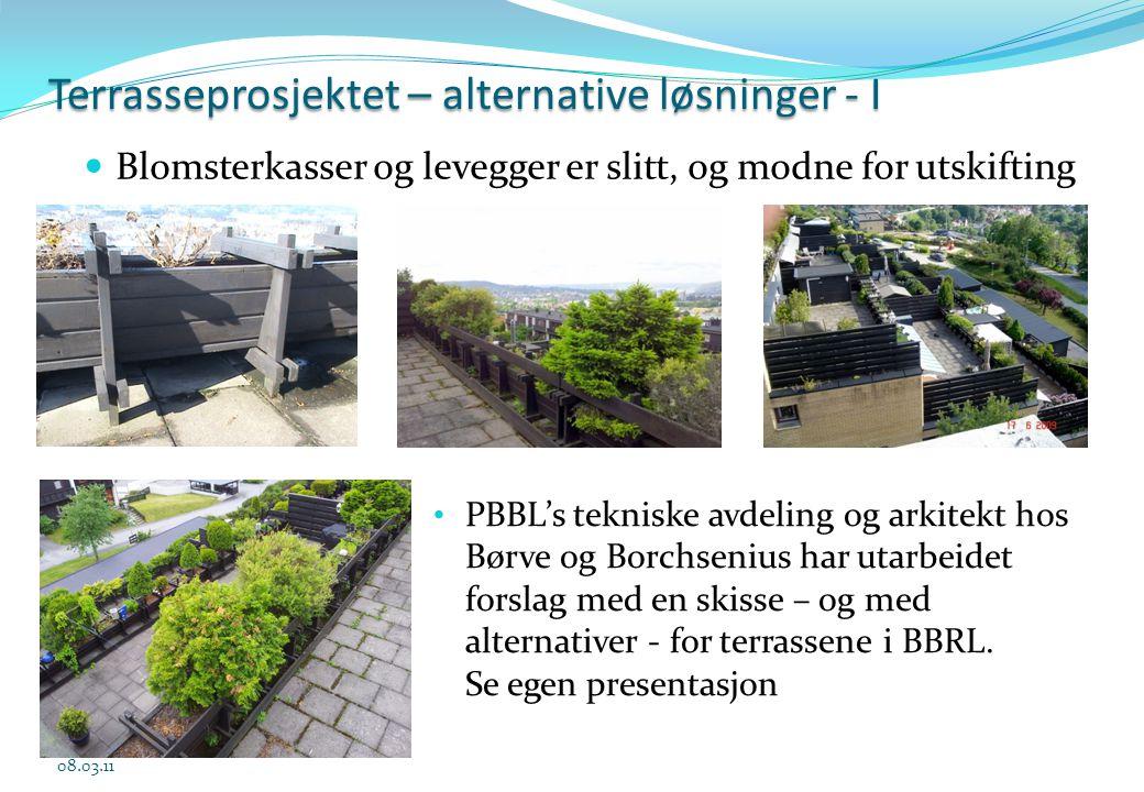 Terrasseprosjektet – alternative løsninger - I